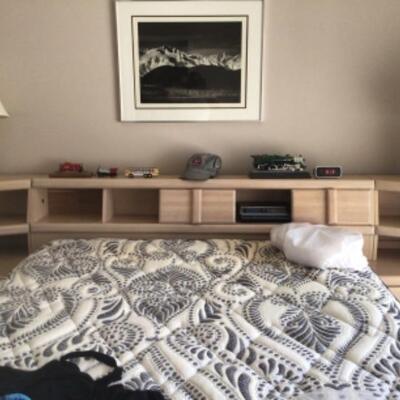 Queen bed $150 Headboard $25