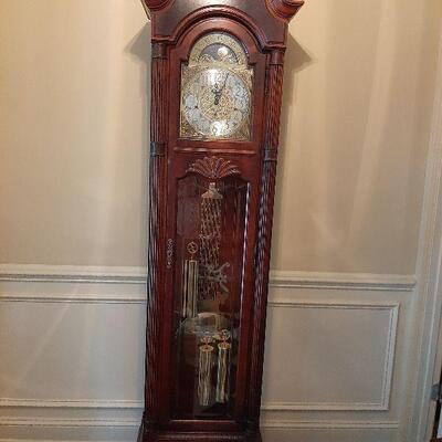 Howard Miller grandfather clock  $1,400,00 Has 4 chimes and all keys and papers