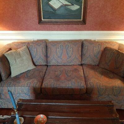 Paisley fabric sofa - 6 ft long $350.00