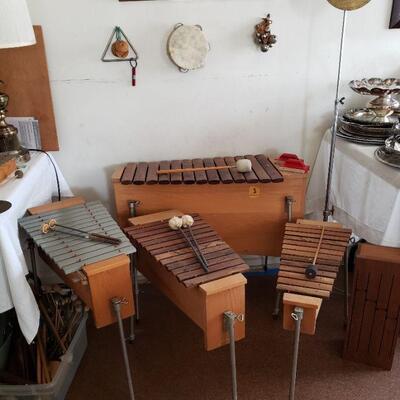Various sized vintage Original Studio 49 Rosewood Xylophones / Glockenspiels. (Made in West Germany)