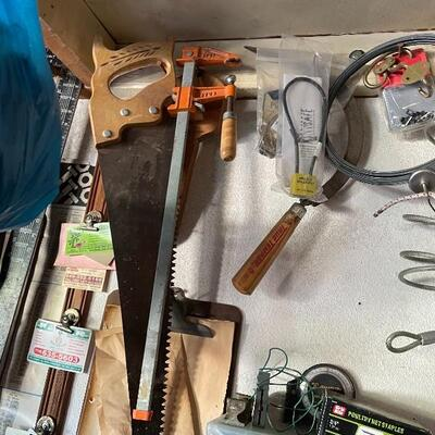 Lots of vintage and new tools