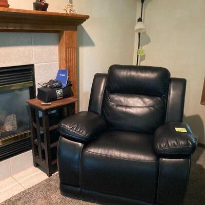 Automatic recliner rocker.  So comfy.