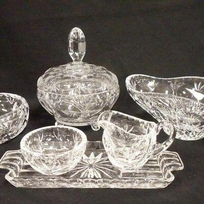 10346 PIECE NACHTMANN CRYSTAL, OVAL BOWL IS 10 1/2 IN