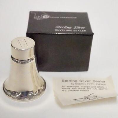 1023STERLING SILVER ENVELOPE SEALER IN BOX, WEIGHTED, DUCHIN CREATIONS, 2 1/8 IN HIGH
