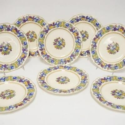 10768 CROWN DUCAL FLORENTINE PLATES, 9 IN