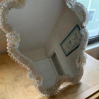 Murano glass framed mirror