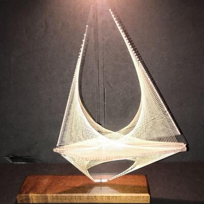 Acrylic & String sailboat