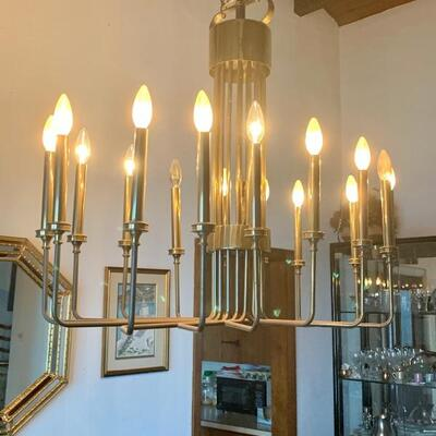 MCM brass  pendant light