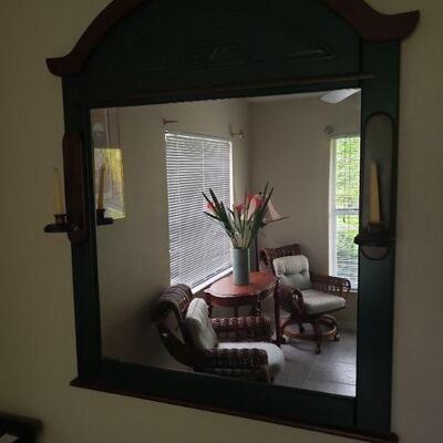 Nice, dark wood framed mirror