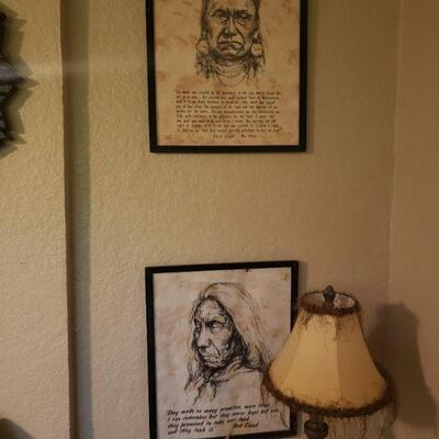 two American Indian pictures with brief descriptions about them