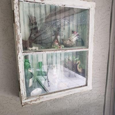old house window made into a shadowbox