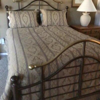 Queen bed, headboard $150 Reduced to $95