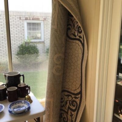 Indoor/outdoor area rug.