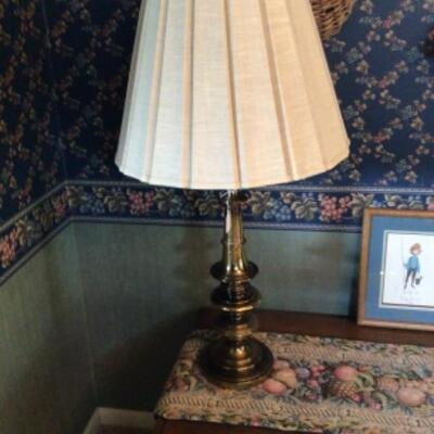 Solid brass lamp.