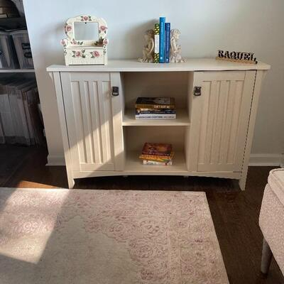 Ivory Sideboard or Bookshelf $150
