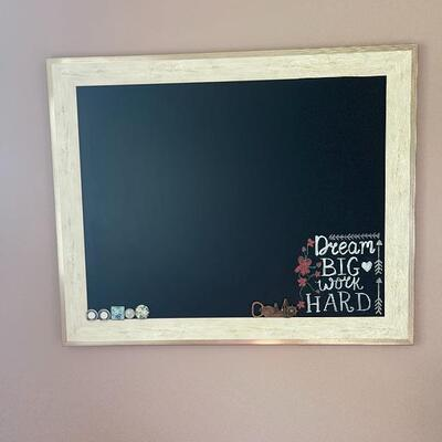 Chalkboard with Cream distressed Frame Item # 1029 Price: $25