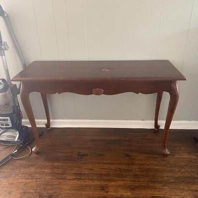 French console Entryway Table  Has Small Burn mark in Center Price: $50
