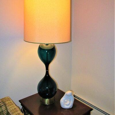 Rare Blenko hourglass lamp