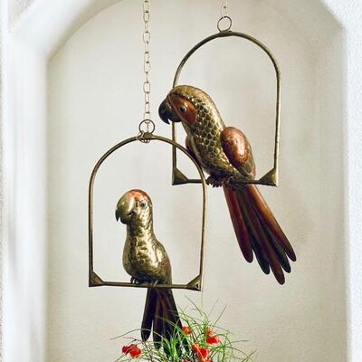 Sergio Bustamante parrots