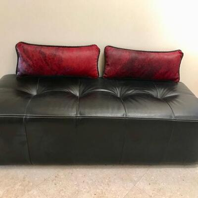 leather bench $265 SOLD 56 X 23 X 15