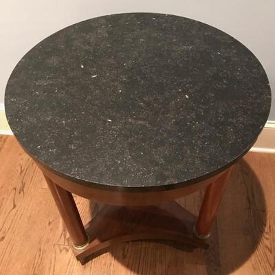 Empire style marble top table $275 23 1/2 X 28