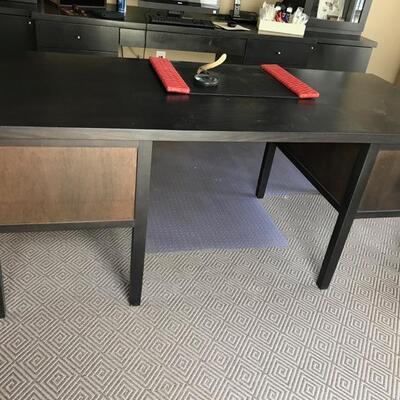 lacquered mahogany desk $895 originally $2,300 75 X 34 X 29 1/2