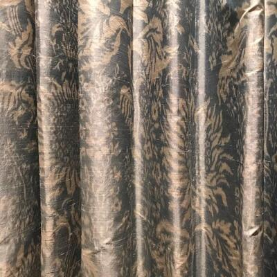 pair of silk window treatments with rod $595 115 X 98