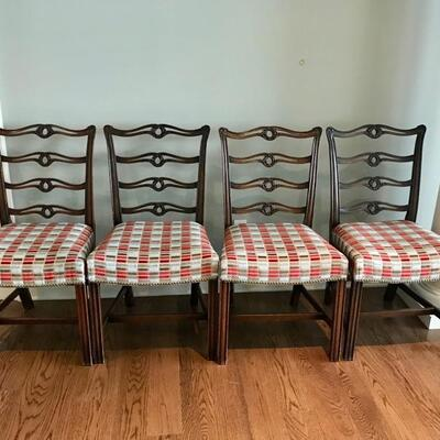 set of 8 19th century Chippendale style dining chairs imported from England $4,800 originally $16,500