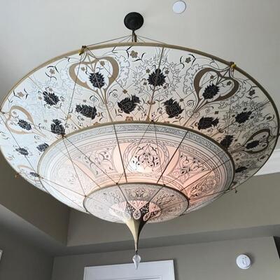 Fortuny 3 tiered silk chandelier $960 originally $2400 40