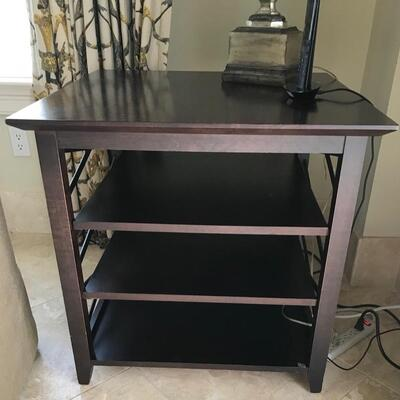 3 shelf end table $165