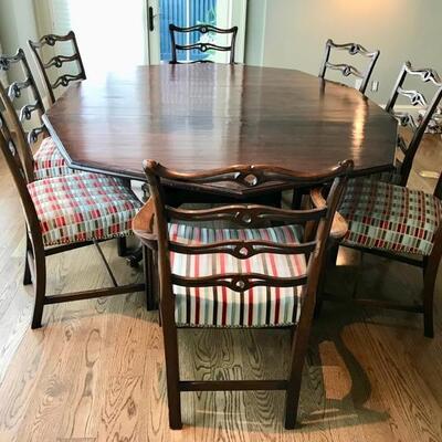 octagonal dining table $$1,195 SOLD originally $4,200 90 X 66 X 30