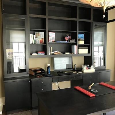 Bookcase and credenza $$1,895 originally $4,800 119 X 27 X 108