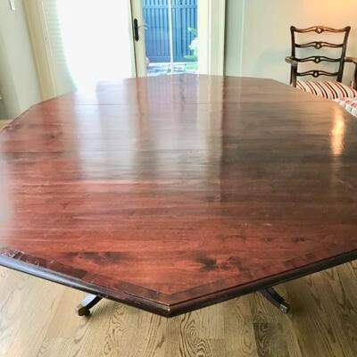 octagonal dining table $$1,195 originally $4,200 90 X 66 X 30