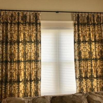 pair of window treatments with hardware $225  106 X 48