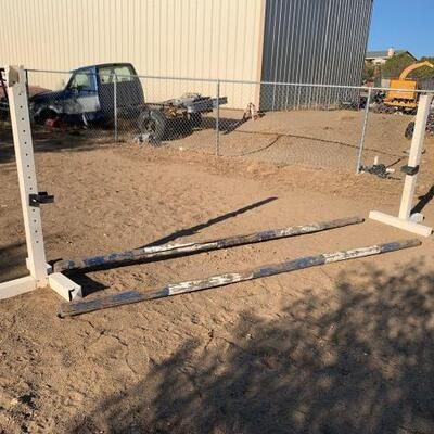 1124  Equestrian Hurdle Cross Bars Are Approx: 11' And Uprights Are Approx: 4'