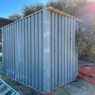 1000  Metal Storage Building Building Measures Approximately 8'x6'x7' Contents Not Included