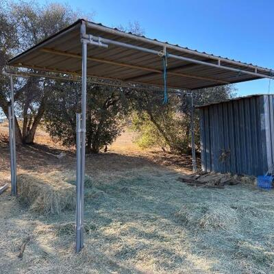 1005  Shelter Measures Approximately 8'x16'