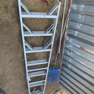 1160  Hay Hook, Rackes, 8' Ladder Hay Hook, Rackes, 8' Ladder
