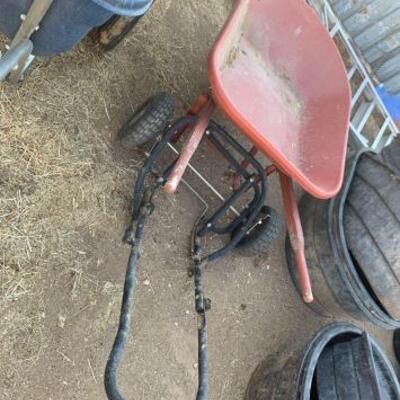 1152  Wheelbarrow And Hay Dolly Wheelbarrow And Hay Dolly