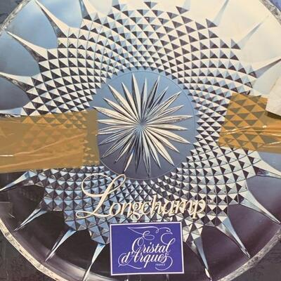 Longchamp Crystal d Arques Round Platter