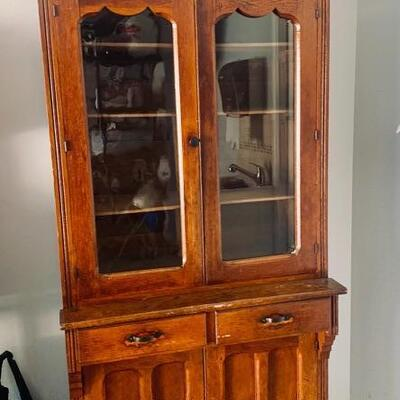 Shabby Chic China Hutch.  Great Project Piece for your Farmhouse Decor.