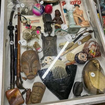 One of nine cases of smalls and jewelry collectibles some fantastic items