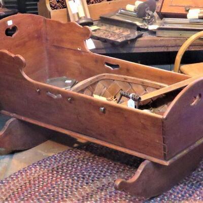 Antique Baby Rocking Cradle