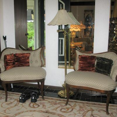 Gossip chairs   BYT THEM NOW $ 195,00 PAIR
