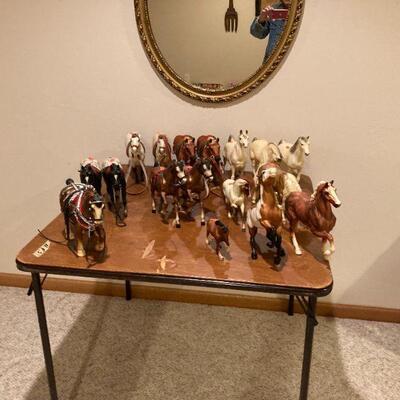Lots of Breyer horses.