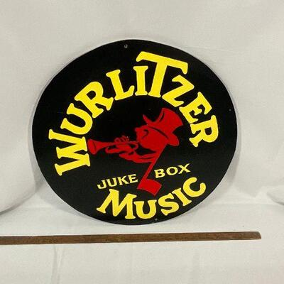 Hand Painted Wurlitzer Sign