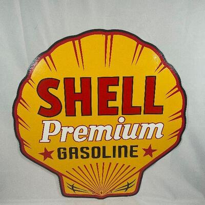 Hand Painted Shell Sign
