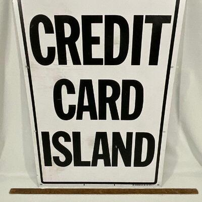 Credit Card Island Sign by May Advertising