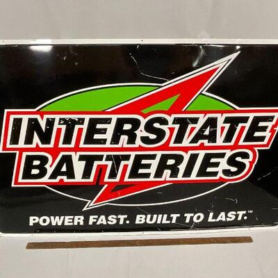 Interstate Batteries Metal  Advertising Sign