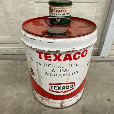 Texaco Oil Cans